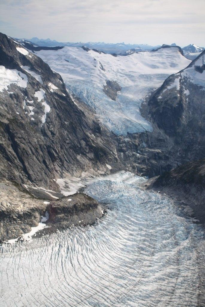 Retreating Glaciers in British Columbia's Coastal Mountains