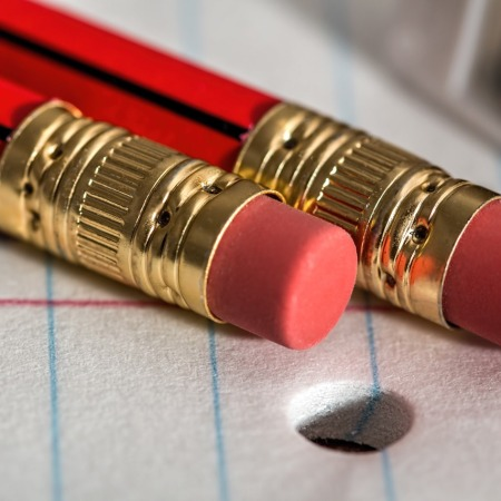 Kids get pencil erasers. Why not include capacity to make mistakes in public discourse?